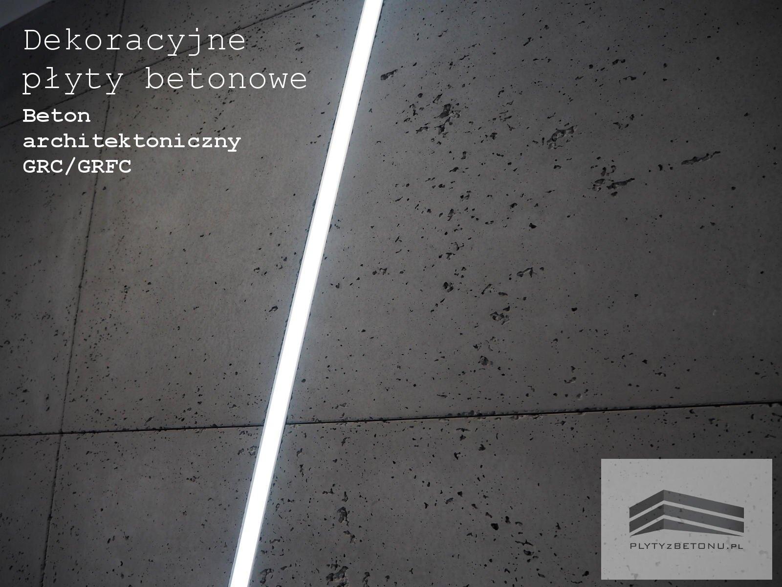 Plyty betonowe Beton architektoniczny GRC GRFC1